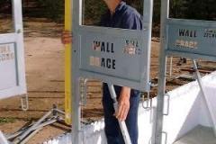 Wall brace plumbing up