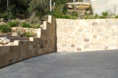 Stepped Down Retaining Walls