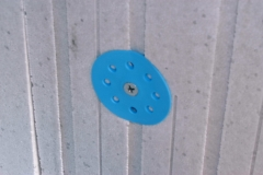 Hot Dipped Galvanised screw and washer on Z-Board Panel