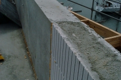 250 adjoining 240 wide concrete beam