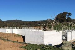 Walls Braced for Concrete Pour