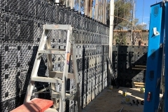 View of ReFORM panels ready for concrete pour