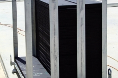 ReFORM Panels stacked in Steel Stillage available for sale or palletised. 150 panels/ 51.624m2 one side/per pallet
